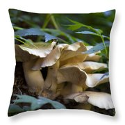 Green Forest Floor Throw Pillow by Barbara Schultheis
