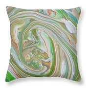 Green Garden  Throw Pillow