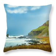 Green Giant Throw Pillow