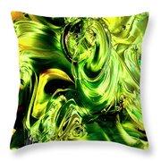 Green Glass Throw Pillow
