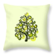 Green Glass Ornaments Throw Pillow