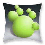 Green Globules Throw Pillow