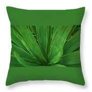 Green Glow Throw Pillow