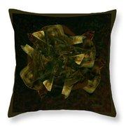 Green Gold Throw Pillow