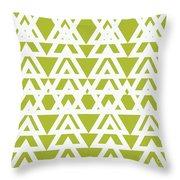 Green Graphic Diamond Pattern Throw Pillow