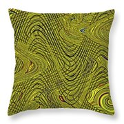 Green Grass Behind The Fence #9 Throw Pillow