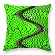 Green Grass Behind The Fence Throw Pillow