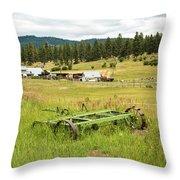 Green Grass Grew All Around Throw Pillow