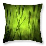 Green Grass Grow Glow Throw Pillow