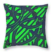 Green Grate Throw Pillow