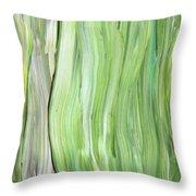 Green Gray Organic Abstract Art For Interior Decor Vi Throw Pillow