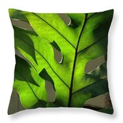 Green Green Green Throw Pillow