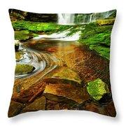 Green Grotto Throw Pillow