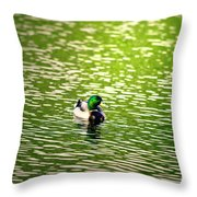 Green Head Throw Pillow