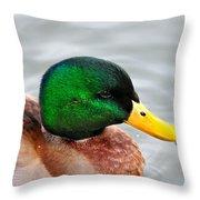 Green Head Throw Pillow
