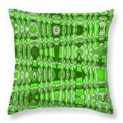 Green Heavy Screen Abstract Throw Pillow