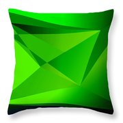 Green Throw Pillow