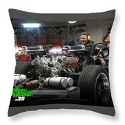 Green Hornet Throw Pillow