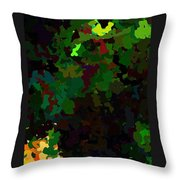 Green Horse Eating A Pear Throw Pillow