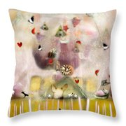 Green House  Throw Pillow