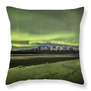 Green Ice Throw Pillow