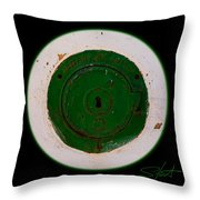 Green Image Throw Pillow