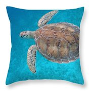 Green In Blue Throw Pillow