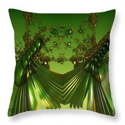 Green Insects  Throw Pillow