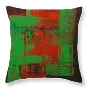 Green Interlock Throw Pillow