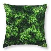 Green Is Life Throw Pillow