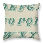 Green Italic Font Throw Pillow
