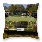 Green Jag Throw Pillow