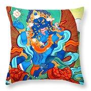 Green Jambhala 3 Throw Pillow