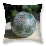 Green Jasper Throw Pillow by Andonis Katanos