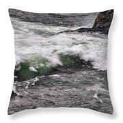 Green Jello Throw Pillow