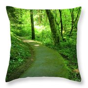 Green Journey Throw Pillow