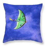 Green Kite Throw Pillow
