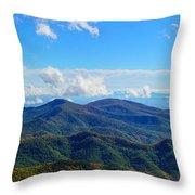 Green Knob Hdr Eastern Panorama Throw Pillow