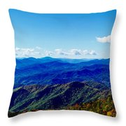 Green Knob Hdr Southern Panorama Throw Pillow
