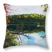 Green Lakes Throw Pillow