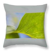 Green Leaf Backlit  Throw Pillow