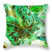 Green Leafmania 1 Throw Pillow