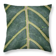 Green Structures Throw Pillow