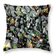 Green Lipped Muscles Throw Pillow