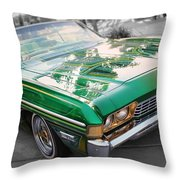 Green Low Rider Throw Pillow