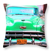 Green Machine Throw Pillow