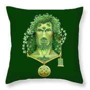 Ivy Green Man Throw Pillow