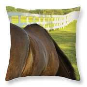 Green Meadows Throw Pillow