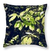 Green Mood 2 Throw Pillow
