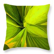 Green Mosaic Throw Pillow